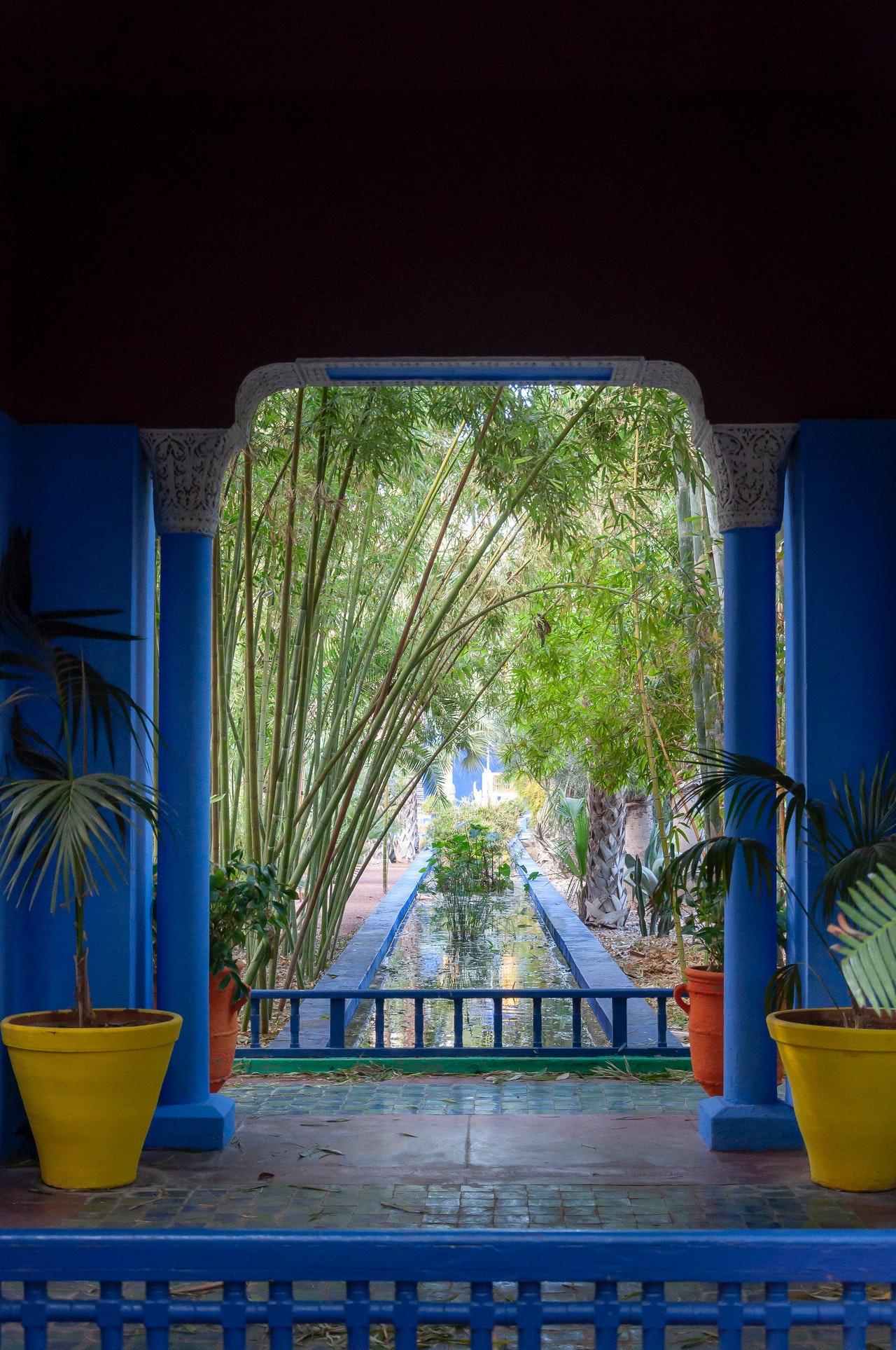 Peinture bleu majorelle : une couleur électrisante